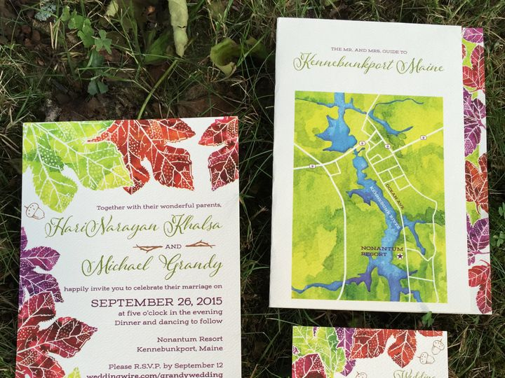 Tmx 1439511600963 Image2 Portland, Maine wedding invitation