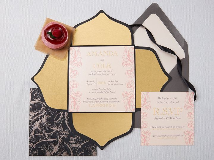 Tmx 1471630328384 Amanda Coleparis Wedding Invitation Suite1 Portland, Maine wedding invitation
