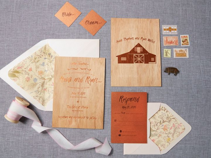 Tmx 1471630432557 Heidi Ryanfarmtotable Wedding Primo Invitation Sui Portland, Maine wedding invitation