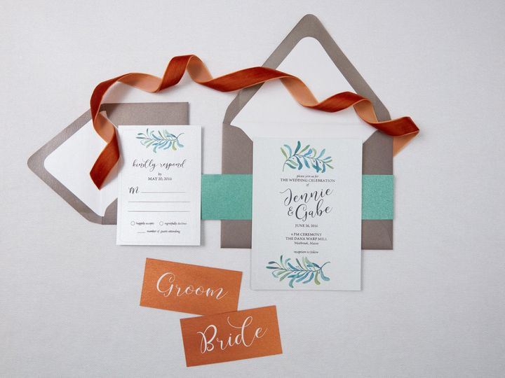 Tmx 1471630468449 Jennie Gabespring Wedding Invitation Suite1 Portland, Maine wedding invitation