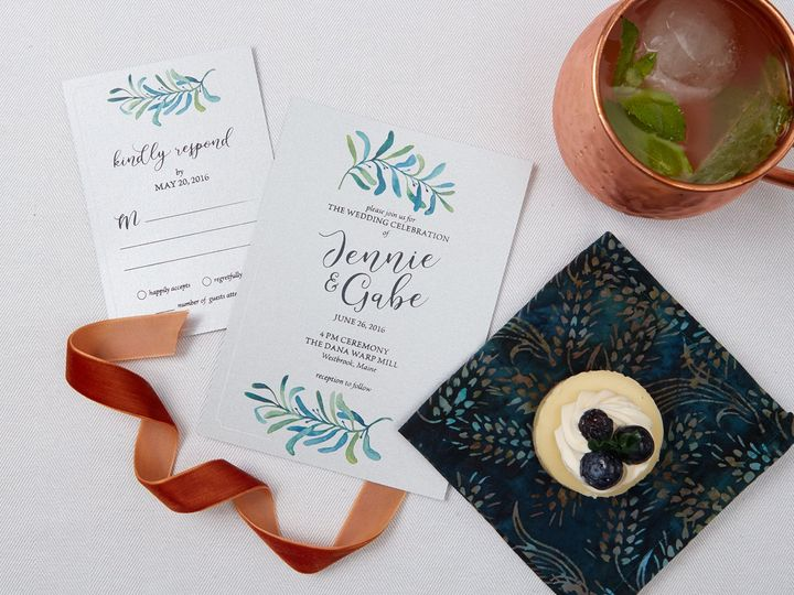 Tmx 1471630499810 Jennie Gabespring Wedding Invitation Suite3 Portland, Maine wedding invitation