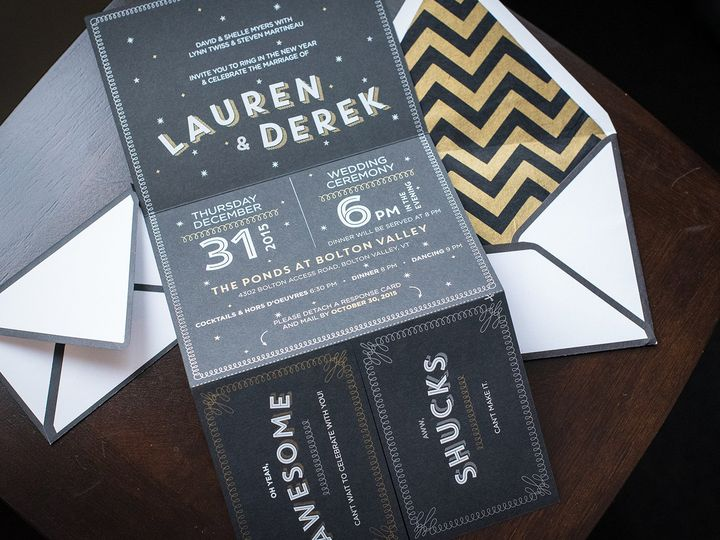 Tmx 1471630627930 Lauren Dereknye Wedding Invitation Suite4 Portland, Maine wedding invitation