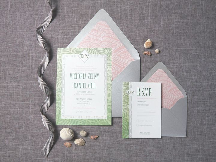 Tmx 1471630699746 Victoria Danielseacoast Weddinginvitation Suite Portland, Maine wedding invitation