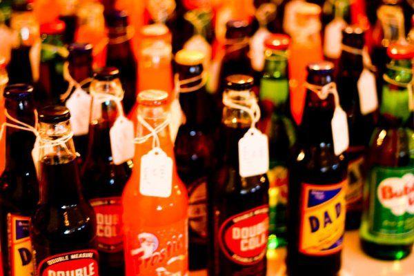 Christine & Dan   Edgewater Hotel  Theme: A Regal Love that is Timeless  Vintage Soda Bottles...
