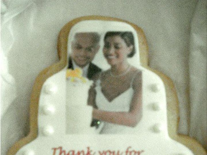 Tmx 1321802663674 Weddingthankyoucookie South Orange wedding cake