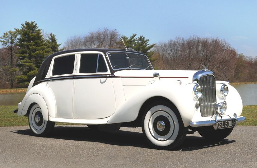 1951 White and Maroon Bentley