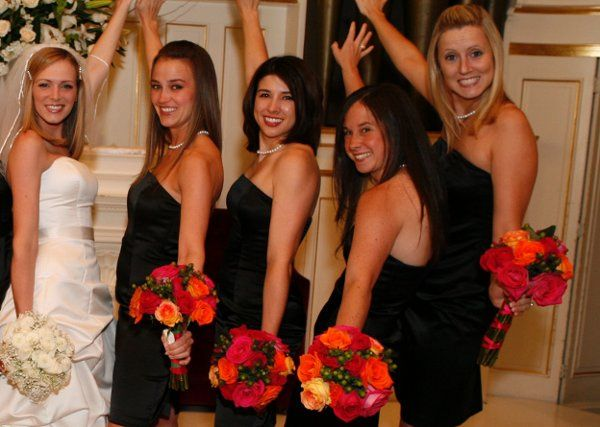 Bride with her Bridesmaids, Williams Wedding June 2008