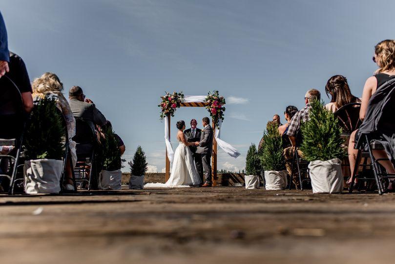 A windy ceremony