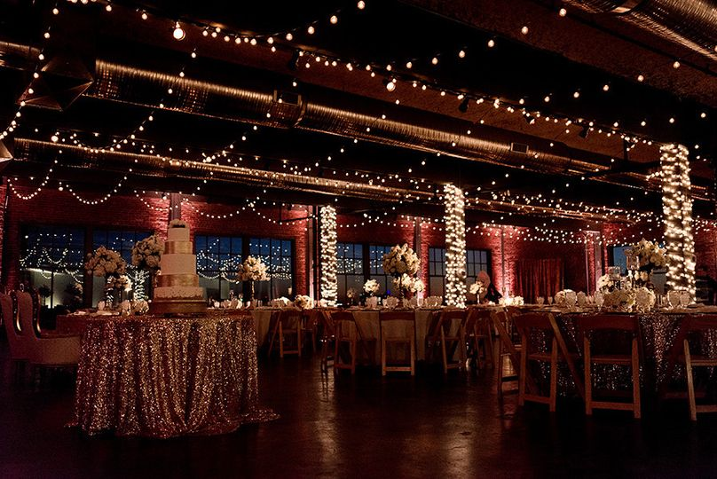 Morgan and Nick's gorgeous reception at Neo on Locust.