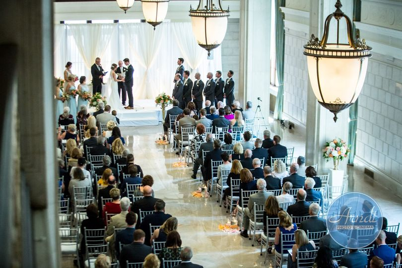 Caitlin and Chris's formal ceremony at the Statler Ballroom.