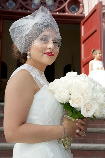 Bride Rosa, Hair by Theresa, Makeup by Pamela