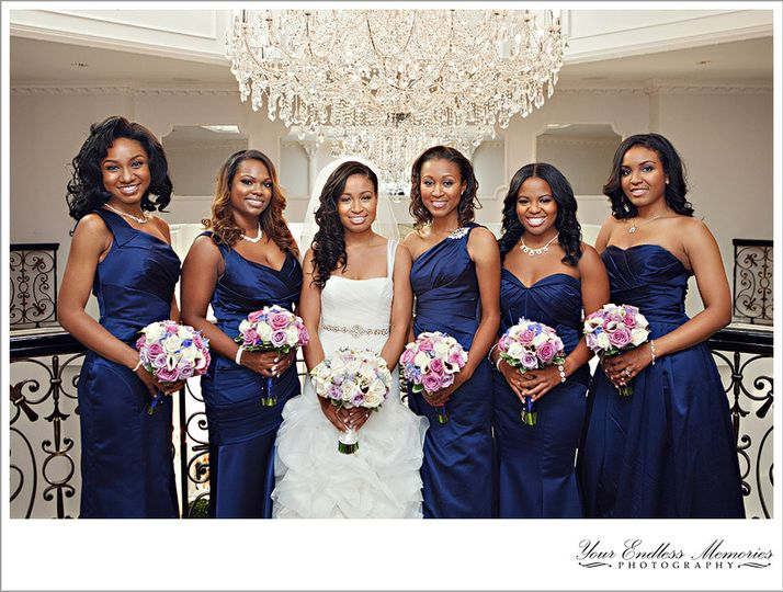 Bride Lindsey and Bridal party, Makeup by Pamela