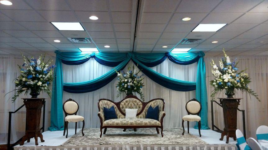 Reception furniture and decor