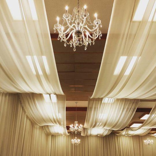 Lighting and drapes
