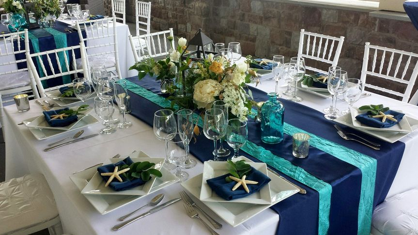 See-themed table decor