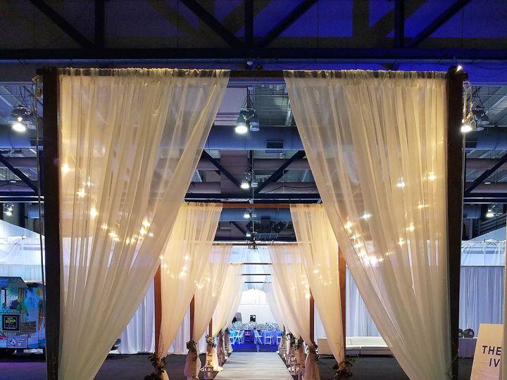 Tmx 1493751949234 Highland Gala Bistro Sheer Draping Walkway Webster, New York wedding rental
