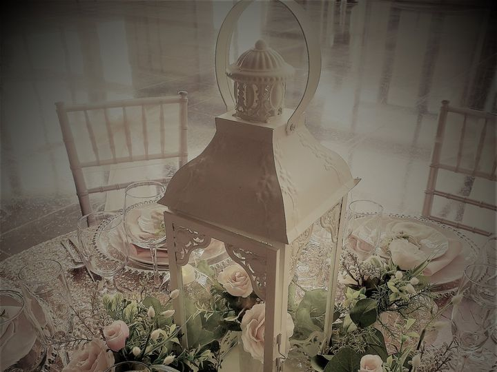 Tmx Blush And Silver Table Scape2 With Lantern 51 621412 Webster, New York wedding rental
