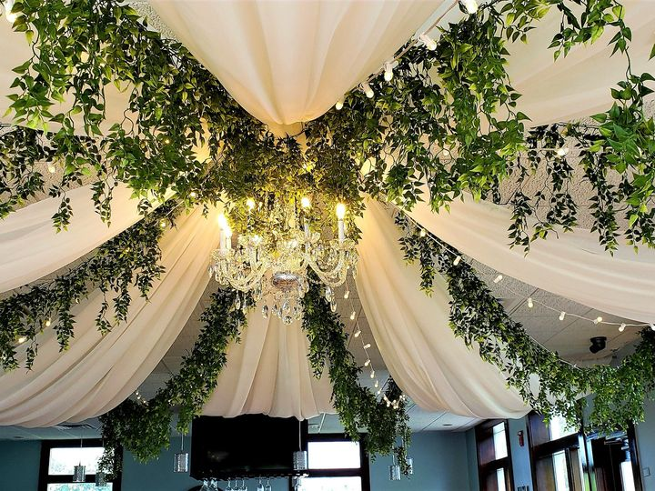 Tmx Ceiling Draping With Greenery 51 621412 159654906397703 Webster, New York wedding rental