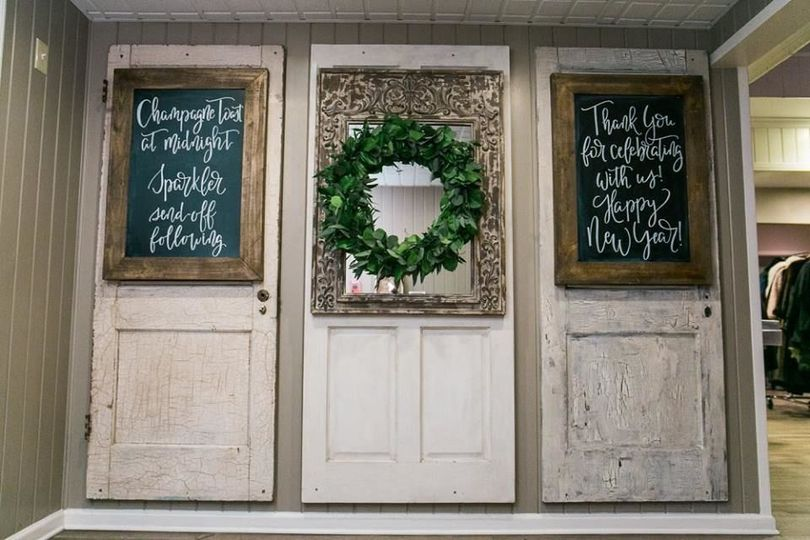 The rustic entrance