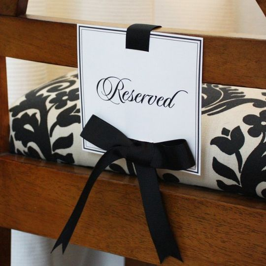 Printable Reserved Seating Sign
