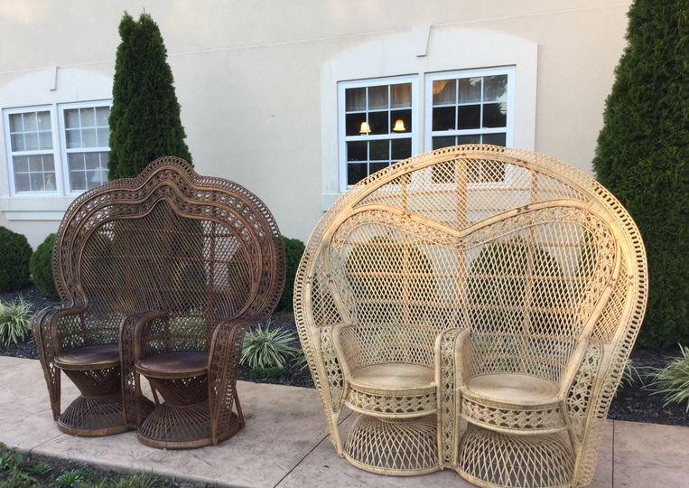 Boho vibe double peacock chair