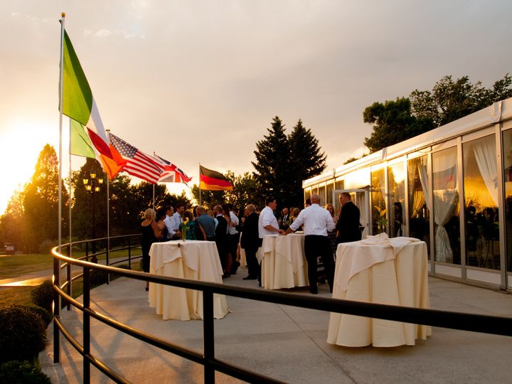 Tmx 1375910313020 Mountain View Pavilion Patio With Flags Denver, Colorado wedding venue
