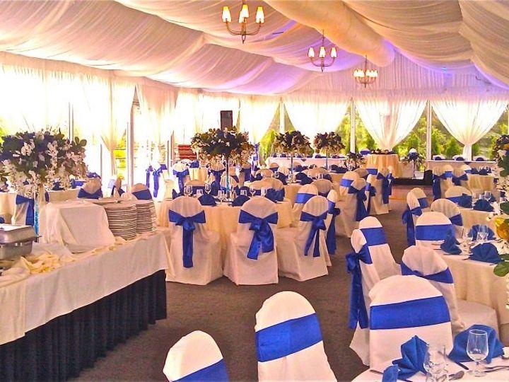 Tmx 1375910832930 Mountain View Pavilion Wedding Buffet With Blue Sashes Denver, Colorado wedding venue
