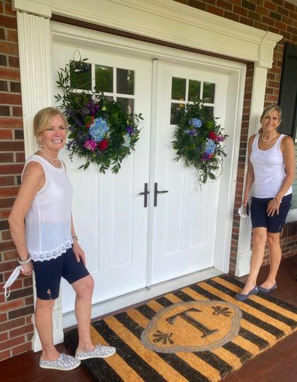 Flower Girls adorn the Entry
