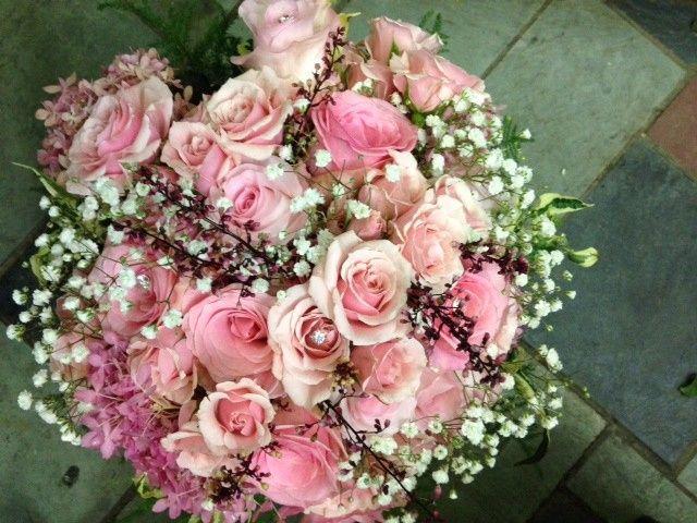 Tmx 1502160307832 Needels Pink Brides Bouq Binghamton, New York wedding florist