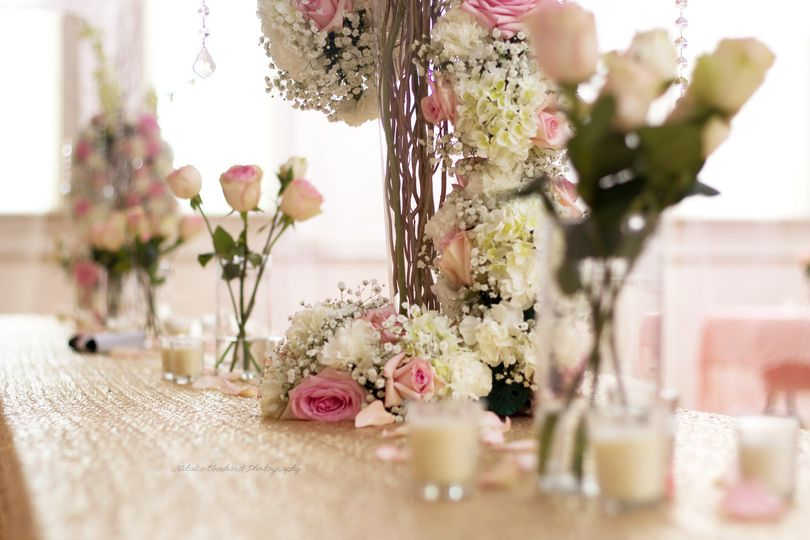 weddingdetailflowertablesettingdecorcenterpiecevas