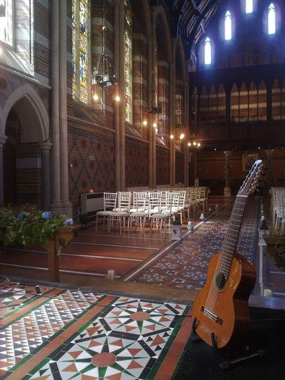 guitar in church
