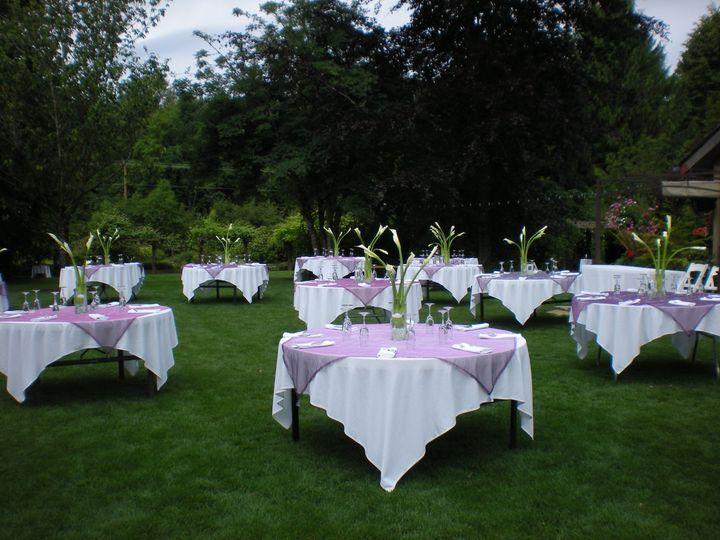 Outdoor reception setup