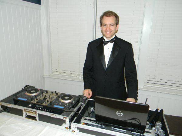 DJ's booth setup