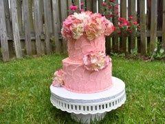 Pin textured cake