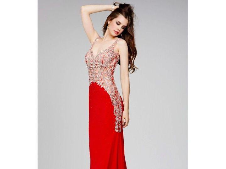 Tmx 1521821699 D2885694896dc8c9 1521821698 06b4ccb5fb384262 1521821675816 1 Jovani Red Sleevel North Andover wedding dress