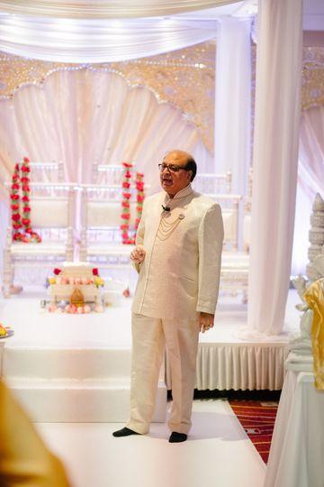 Panditji at a Wedding Mandap in London