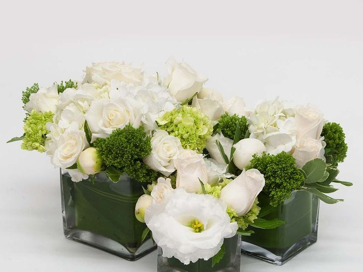 Tmx 1415830067887 Tri White Square Center Piece Cambridge wedding florist