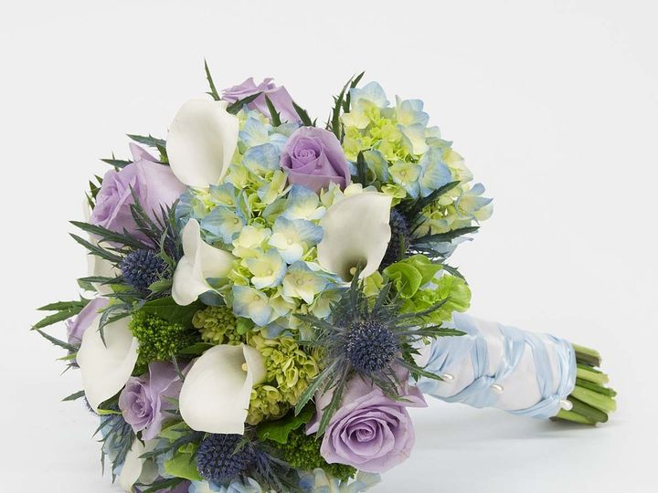 Tmx 1415830734528 Bouquet Blue White Purple Cambridge wedding florist