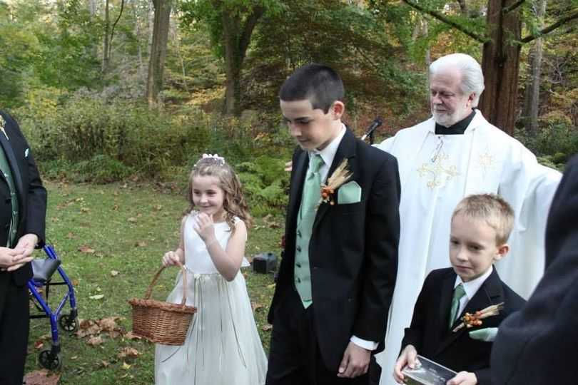Flower girls and page boys