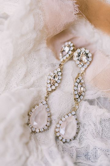 Haute Bride couture crystal earrings - hand crafted in the Bay Area