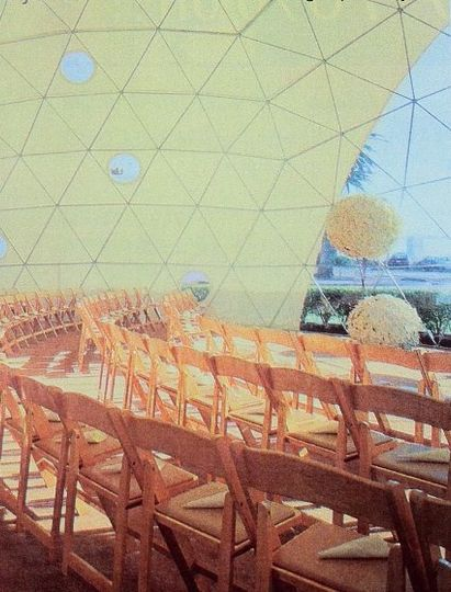 San Francisco, CA Treasure Island Wedding.  The doorway to the wedding planned in a Pacific Dome on...