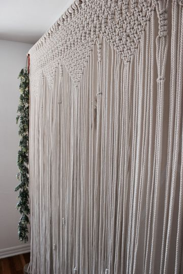 Macrame boho backdrop