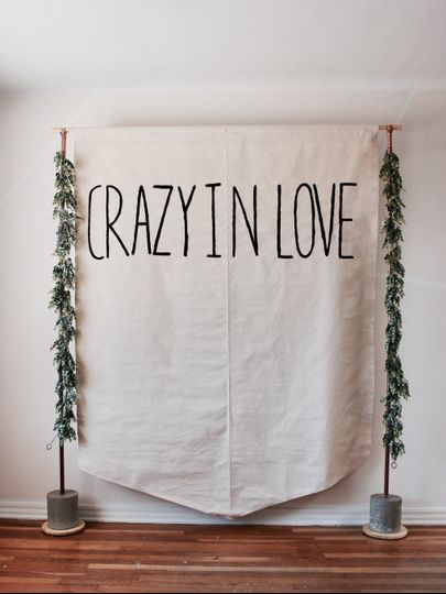 Crazy in love banner backdrop