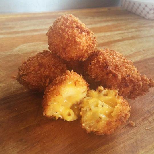 Baked mac balls