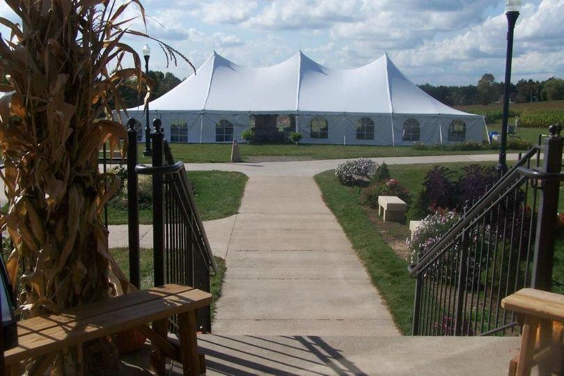 Tent wedding or reception