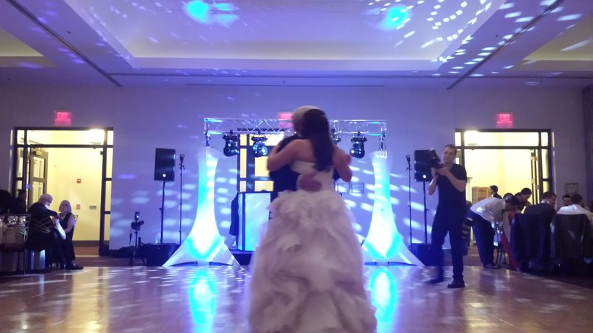 Bride and parent dancing