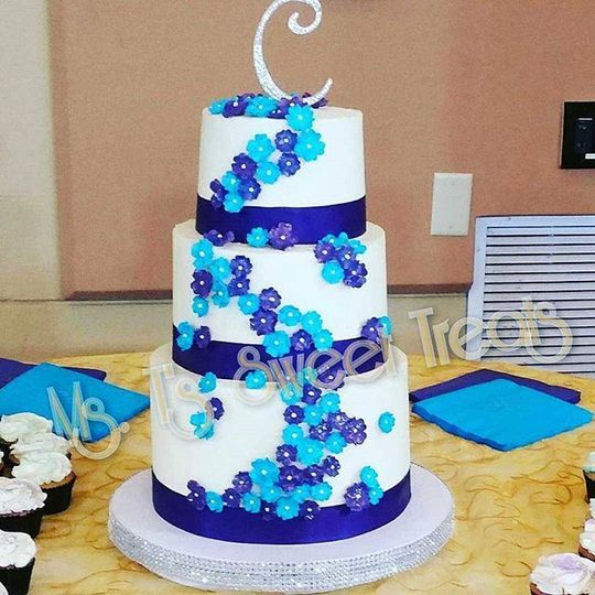 Blue ascending flowers