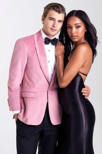 Allure Mens Pink Velvet Tuxedo