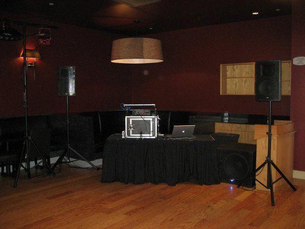 Small sound system setup.