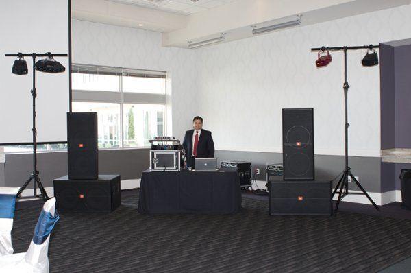 Large 11,500 Watt JBL sound system